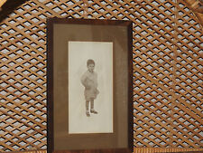 VTG Framed Photo Boy in Peter Pan Costume 1940s 1950s Austin Texas