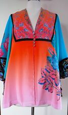 NWT Nanette Lepore cool collage bell sleeve blouse Size M/L $498