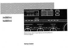 Harman Kardon HK880VXI HK990VXI Receiver Owners Manual