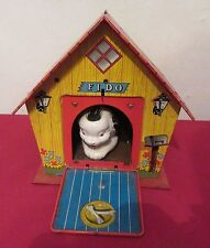 Vintage 1960's Ohio Art Tin Fido's Musical Dog House Wind Up Toy Works