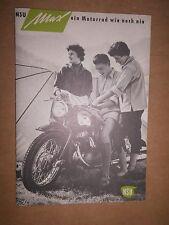 NSU MAX PROSPEKT 1955 MOTORRAD NECKARSULM TOP OLDTIMER SAMMLER