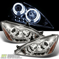 03-07 Honda Accord CCFL Halo Projector Led Headlights Lights Lamps Left+Right