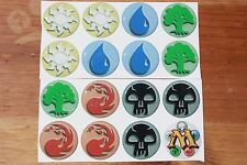 MAGIC THE GATHERING Stickers Epoxy 1inch round 4 Bottle Cap Magnet & Crafting