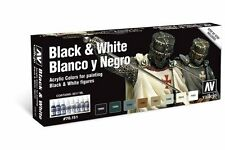 VALLEJO 70.151 Set Noir et blanc – Black and white colors  8x17ml