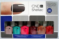 CND SHELLAC GIFT SET Pick ANY 6 Colors ~ Art Craft Forbidden Paradise Starstruck