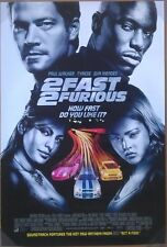 2 FAST 2 FURIOUS MOVIE POSTER 2 Sided ORIGINAL INTL Version B 27x40 PAUL WALKER