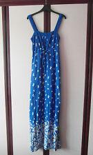 Gorgeous Monsoon Blue Butterfly-Print Summer Maxi Dress - Size 10 - Worn Once!