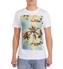 100% Organic T-Shirt By 'Dedicated' Design 'Tropical Tribe' -White Small RRP £30