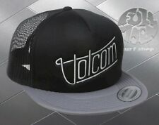 New Volcom Men's Mixer Cheese Black Gray Snapback Trucker Cap Hat
