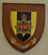 Middlesex Yeomanry regimental mess plaque crest shield British Army
