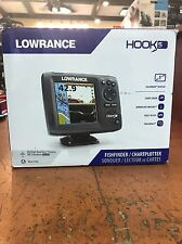 *NEW Lowrance Hook-5 Fishfinder/Chartplot Mid/High/DownScan Bundle 000-12656-001