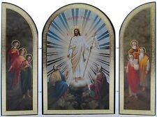 Resurrection Triptych Icon - A Historic Form of Christian Art - Christ is Risen!