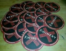 *NICE* X Winery Napa, CA* Thick Paper Drink  Coasters* Set of 18 2-sided NEW