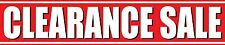 4'x20' CLEARANCE SALE Discount Half Price Percent Off Vinyl Banner Sign