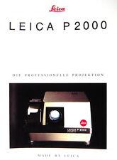 LEICA P2000 DIE PROFESSIONELLE PROJEKTION Prospekt brochure - (0437)