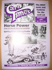 CARD TIMES MAGAZINE FORMERLY CIGARETTE CARD MONTHLY No 136 SEPTEMBER 2001