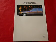 MERCEDES W124 Limousinen 250 D + 260 E in Langversion Prospekt von 1990