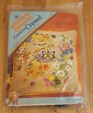 Vintage Columbia Minerva Erica Wilson Spring Garden Crewel Pillow Kit 7416 14x14