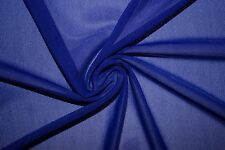 Cobalt Power Mesh 4 Way Stretch Nylon Lycra Spandex Dance Swimwear Fabric BTY