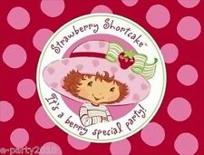 STRAWBERRY SHORTCAKE INVITATIONS & THANK YOU NOTES (8) ~ Birthday Party Supplies