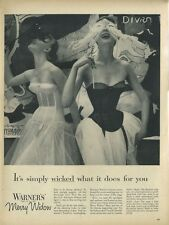 1955 Warners Merry Widow Bra Marquisette Theatrics Women's Underthings PRINT AD