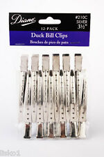 "DIANE By Fromm D210C DUCK BILL HAIR CLIPS , SILVER 3-1/2"" , 12-CLIPS PER PACK"