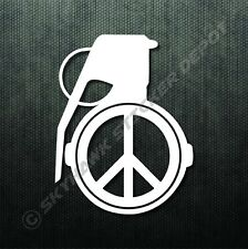 Grenade Peace Sign Bumper Sticker Vinyl Decal Vinyl Window Decal For Ford F150