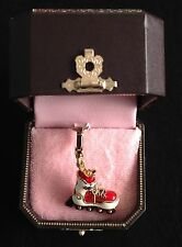 NIB Juicy Couture New Genuine Gold Plate Roller Blade Charm YHRU3740 In Gift Box
