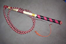 Handcrafted Australian Stock Whip 4'x4 plait