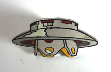 "Vintage Invaders TV Spaceship Cloisonne Metal Pin 1.5"" FREE S&H (INPI-01)"