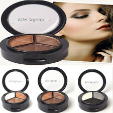 Beauty 3 Colors Eyeshadow Natural Smoky Cosmetic Eye Shadow Palette Make Up Tool