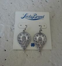 NWT LUCKY BRAND Silver Tone Etched Teardrop Earrings  $29.00
