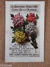 R&L Postcard: Birthday Wishes, Mother, Bouquet of Flowers, Rotary Photos, 1922