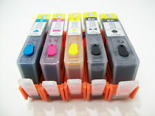 5 Refillable ink cartridge with chip HP 564 XL Photosmart 7510 7515 C635 + ink