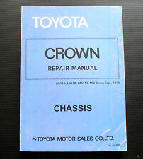 Toyota CROWN CHASSIS Repair Manual RS110 LS110 MS111 MS112 service workshop book