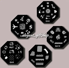 5pcs DIY Nail Art Decoration Metal Stamp Plate Image Template (QA6-10)