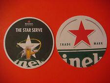 Beer Coaster Mat ~ HEINEKEN Brewery ~ Open Your World ~ The Star Serve ~ HOLLAND