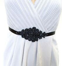 Dukles Marineblau Blau Schwarz Wulstig Gürtel 1920s Flapper Kleid Great Gatsby