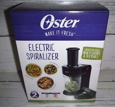 New Black Oster Easy-to-Use Electric SPIRALIZER Spaghetti & Noodles
