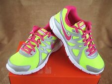 NEW NIKE REVOLUTION 2 GS SHOE VOLT/PINK/SILVER/WHT YOUTH 4.5Y