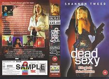 Dead Sexy, Shannon Tweed Video Promo Sample Sleeve/Cover #10430