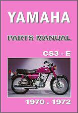 YAMAHA Parts Manual CS3 & CS3E 1970 1971 & 1972 Replacement Spares Catalog List