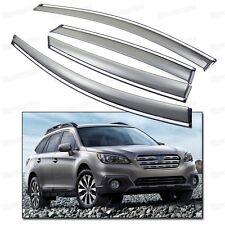 4x Window Visor Vent Shade Rain/Sun/Wind Guard for Subaru Outback 2015-2016 Up