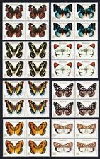 Rwanda**BUTTERFLIES-8 BLOCKS x 4stamps-Cat 60€/70$-1979- PAPILLON-MARIPOSA-VLIND