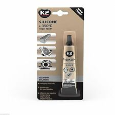 HIGH TEMPERATURE SILICONE K2 BLACK UP TO 350°C ADHESIVE SEALANT 85 G