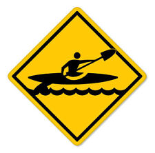 "Kayak Crossing Kayaking Vinyl Car Sticker Decal 4"" x 4"""