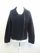 Pure Collection Ribbed Biker Jacket Blue Size XL Box4302 G