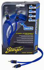 STINGER SI623 3 FEET 2-CHANNEL 6000 CAR RCA INTERCONNECT CABLE WIRE  NEW