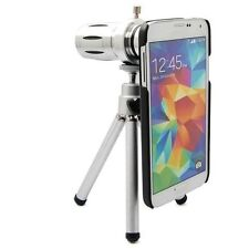 12x Zoom Telescope Camera Lens Mini Tripod Back Case For Samsung Galaxy S5 i9600
