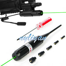 Combo Green Dot .Laser Sight 22 to .50 Boresighter Clip Mount For Rifle Hunting